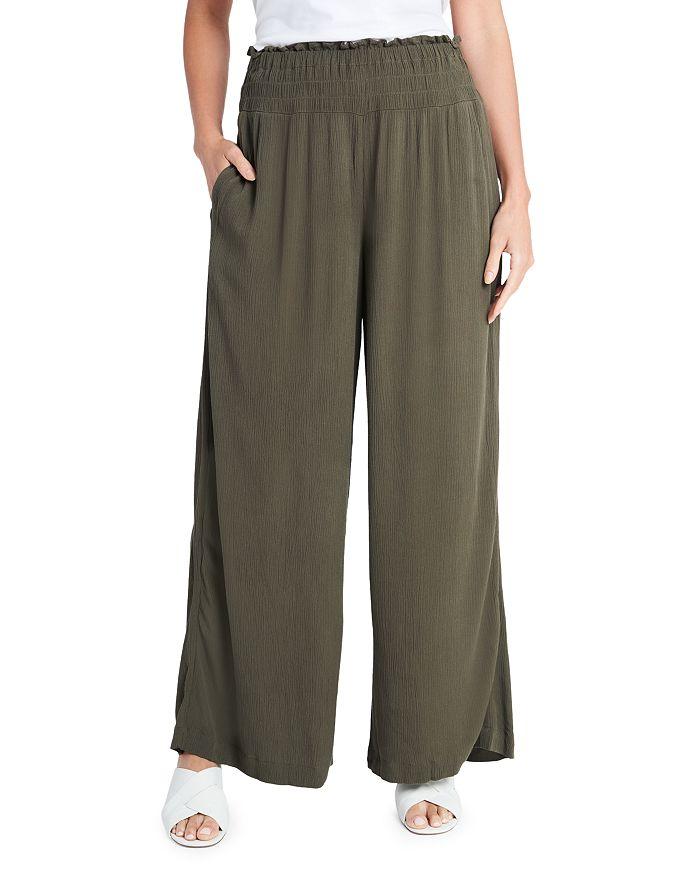 1.state Wide leg pants SMOCKED WIDE LEG GAUZE PANTS