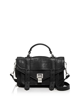 Proenza Schouler - Zipper Pochette Mini Embossed Leather Satchel