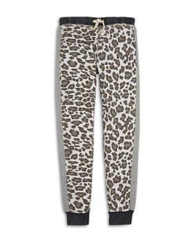 Vintage Havana - Girls' Leopard Print Fleece Jogger Pants - Big Kid