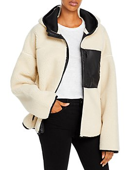 3.1 Phillip Lim - Hooded Faux Sherpa Bonded Sporty Jacket