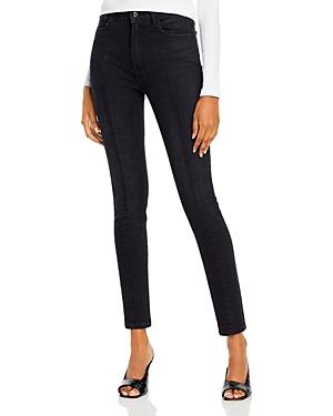 Jonathan Simkhai Standard High Waist Skinny Ankle Jeans in Noir