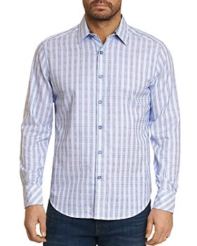 Robert Graham - Illusionist Cotton Textured 3D Grid Plaid Classic Fit Button Up Shirt