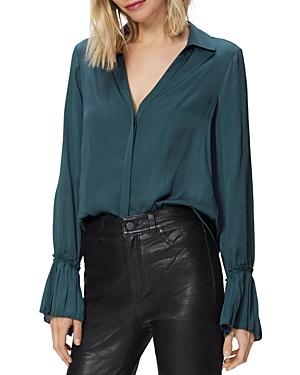 Paige Abriana Pleated Cuff Shirt-Women