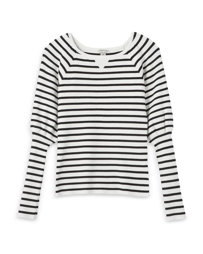 Habitual Kids Girls' Puff Sleeve Ribbed Sweater - Big Kid  | Bloomingdale's