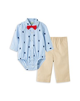 Little Me - Boys' Cotton Bear Bow Tie Bodysuit & Pants Set - Baby