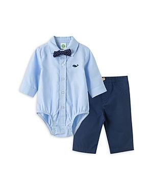 Little Me Boys\\\' Cotton Whale Bow Tie Bodysuit & Pants Set - Baby-Kids