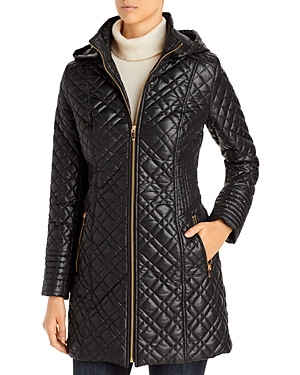 Via Spiga Hooded Quilted Coat-Women