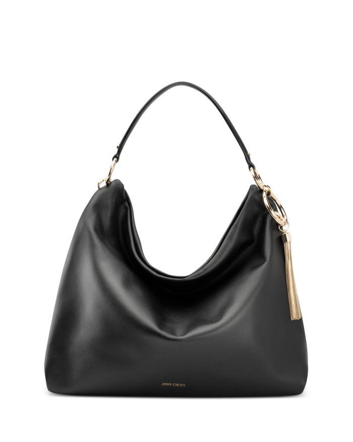 Jimmy Choo Callie Large Leather Shoulder Bag    Bloomingdale's