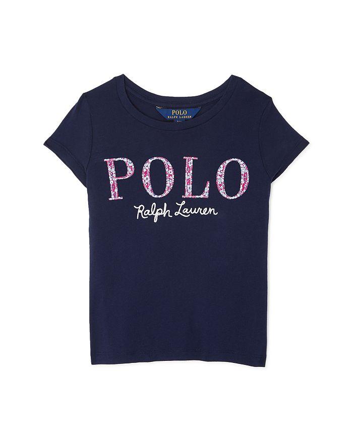 Ralph Lauren - Ralph Lauren Girls' Floral Logo Tee - Little Kid, Big Kid