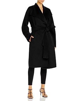 Vince - Drape Front Wool & Cashmere Coat