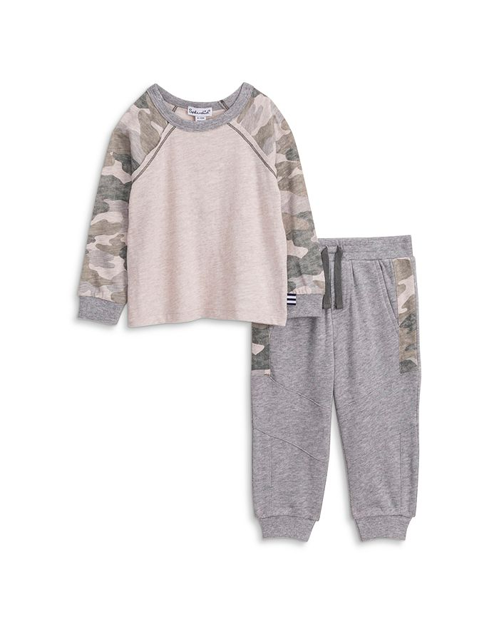 Splendid - Boys' Camo Print Tee & Jogger Pants Set - Baby