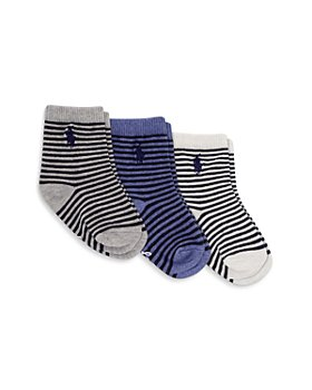 Ralph Lauren - Boys' St. James Stripe Socks, 3 Pack - Baby