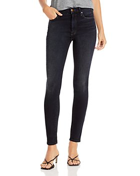 MOTHER - High Waist Skinny Jeans in Coffee, Tea, or Me?