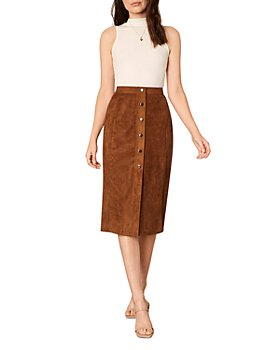cupcakes and cashmere - Janis Faux Suede Skirt