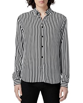 The Kooples - Striped Black and White Silk Shirt