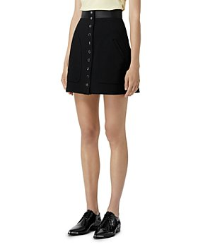 The Kooples - Button Front Mini Skirt
