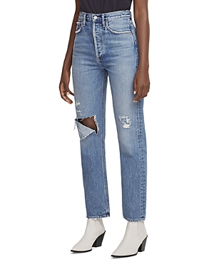 Agolde 90's Pinch Waist High Rise Straight Leg Jeans in Lineup