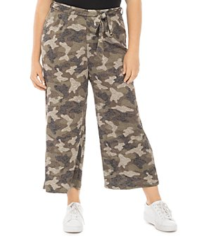 B Collection by Bobeau Curvy - Plus Size Doris Leopard Print Cropped Pants