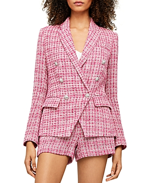 L Agence L'AGENCE KENZIE DOUBLE BREASTED TWEED BLAZER