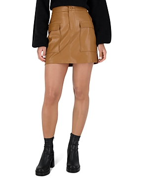 Bb Dakota x Steve Madden Leather Too Late Faux Leather Mini Skirt-Women