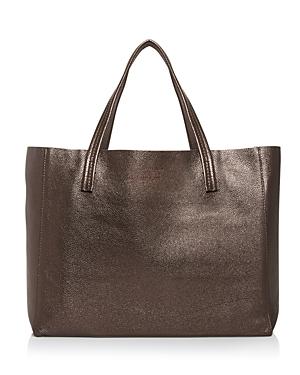 Kurt Geiger London Violet Horizontal Leather Tote-Handbags