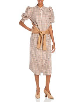 Derek Lam 10 Crosby - Luis Layered Look Plaid Dress