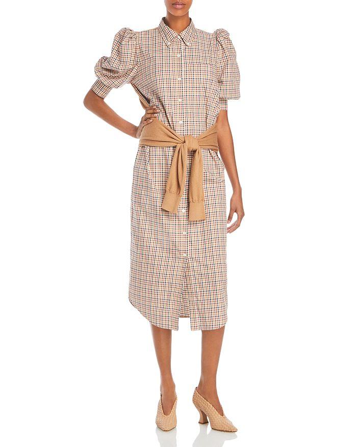 Derek Lam 10 Crosby - Luis Layered Look Plaid Dress