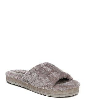Vince - Women's Kalina Open Toe Faux Fur Slippers