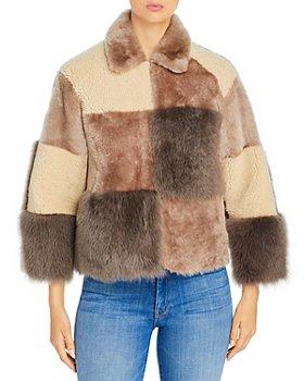 Maximilian Furs - Patchwork Shearling Coat