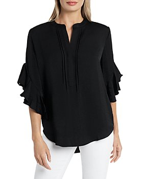 VINCE CAMUTO - Ruffled Henley Blouse