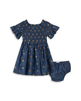 Habitual Kids - Girls' Marlowe Embroidered Smocked Denim Dress - Baby
