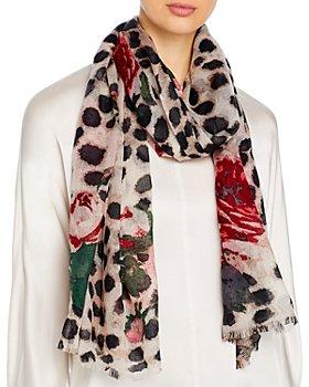 Bloomingdale's - Animal & Rose Print Wool Scarf - 100% Exclusive