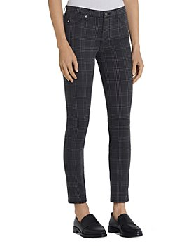 AG - Prima Skinny Jeans in Houndstooth Plaid Folkstone