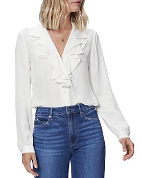 PAIGE - Jennie Silk Ruffled Blouse