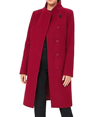 Maisie Funnel Neck Asymmetrical Coat