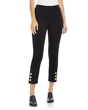 Karen Kane Button Hem Cropped Piper Pants