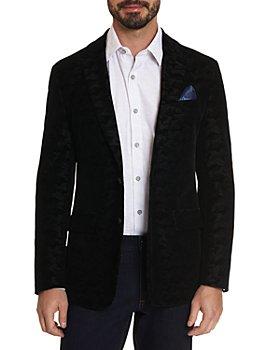 Robert Graham - Hoyle Velvet Textured Camouflage Jacquard Tailored Fit Sport Coat