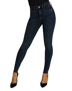 Good American - Raw Edge Skinny Jeans in Blue469