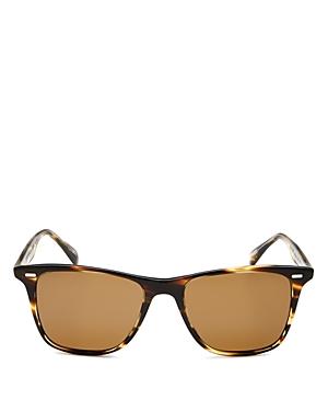 Oliver Peoples Unisex Ollis Polarized Round Sunglasses, 51mm
