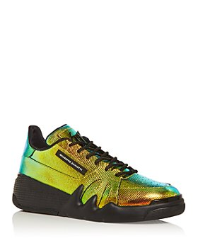 Giuseppe Zanotti - Men's Talon Embossed Hologram Low Top Sneakers