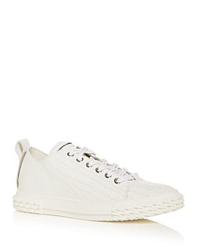 Giuseppe Zanotti - Men's Blabber Croc-Embossed Low Top Sneakers