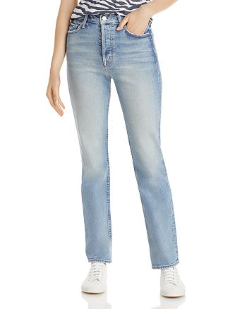 MOTHER - Straight Leg Jeans in Give It Up