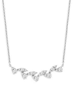 Bloomingdale's Diamond Leaf Bar Necklace in 14K White Gold, 0.35 ct. t.w. - 100% Exclusive