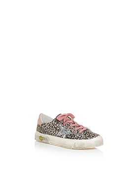 Golden Goose Deluxe Brand - Girls' May Leopard Print Low Top Sneakers - Toddler, Little Kid