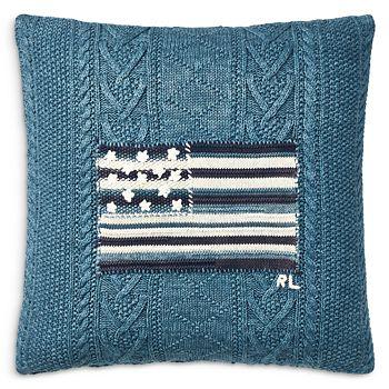 """Ralph Lauren - RL Flag Throw Pillow, 20"""" x 20"""""""