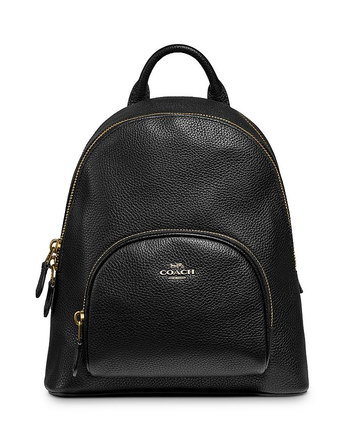 COACH - Carrie Small Pebble Leather Backpack