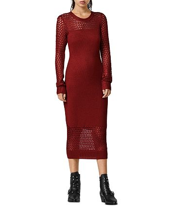 ALLSAINTS - Kendy Mesh Trim Sweater Dress