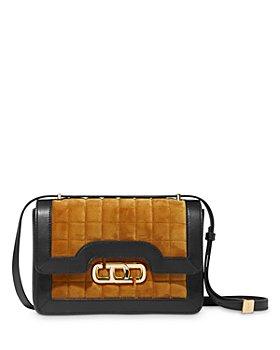 MARC JACOBS - The J Link Small Quilted Velvet & Leather Shoulder Bag