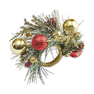 Kim Seybert Holiday Bough Napkin Ring In Multi