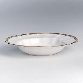 """Royal Crown Derby - """"Carlton Gold"""" Rim Soup Plate"""